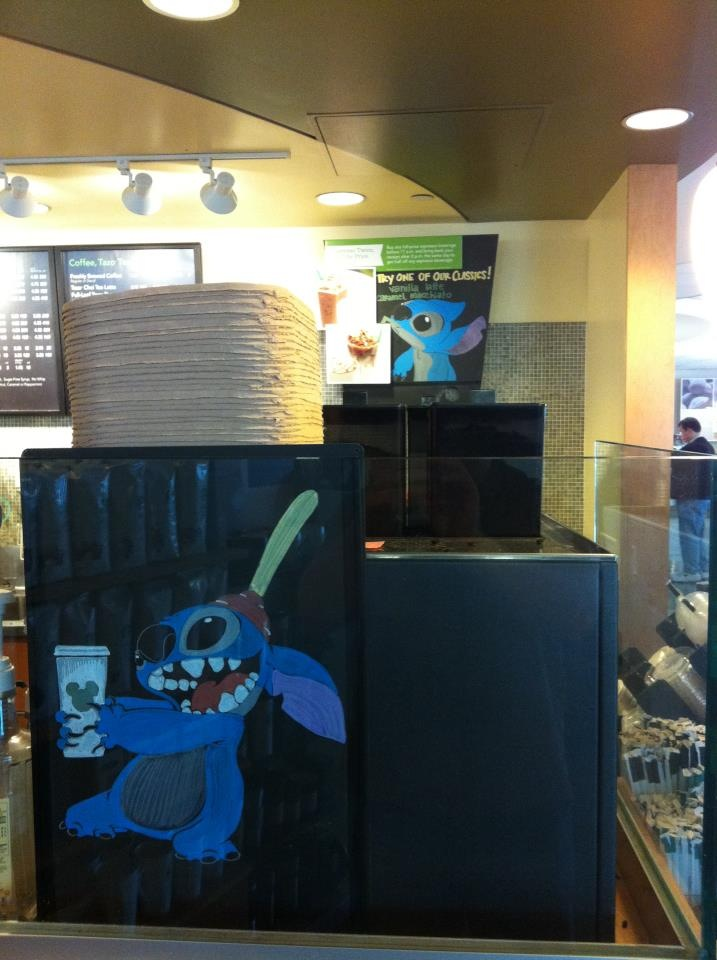 Disney Starbucks Menu Stitch