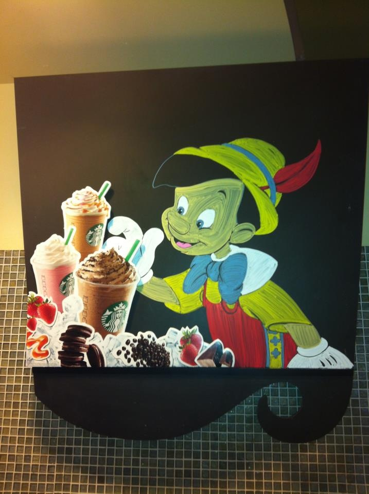 Disney Starbucks Menu Pinocchio