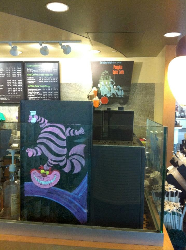 Disney Starbucks Menu Cheshire Cat