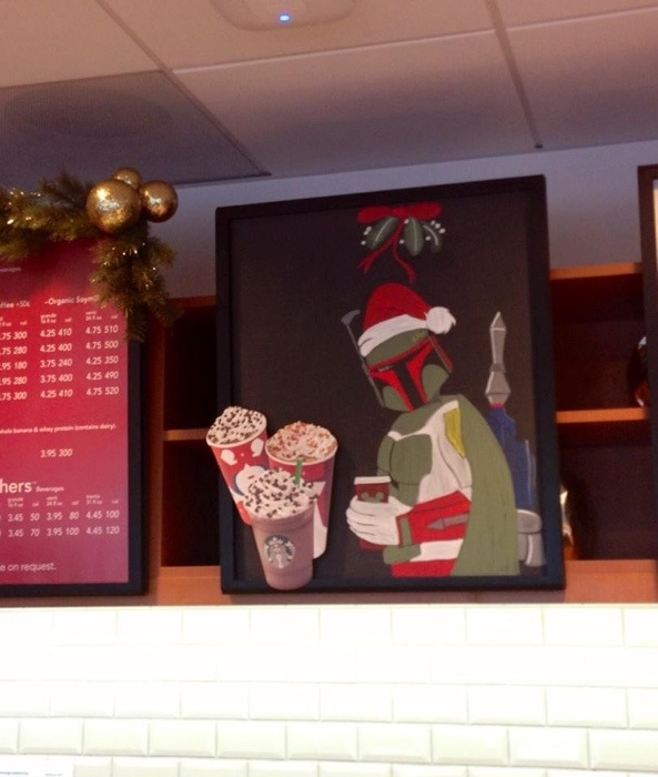Disney Starbucks Menu Boba Fett