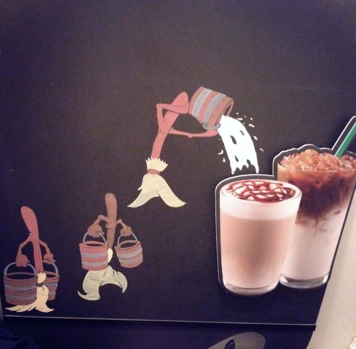 Disney Starbucks Menu Fantasia Brooms