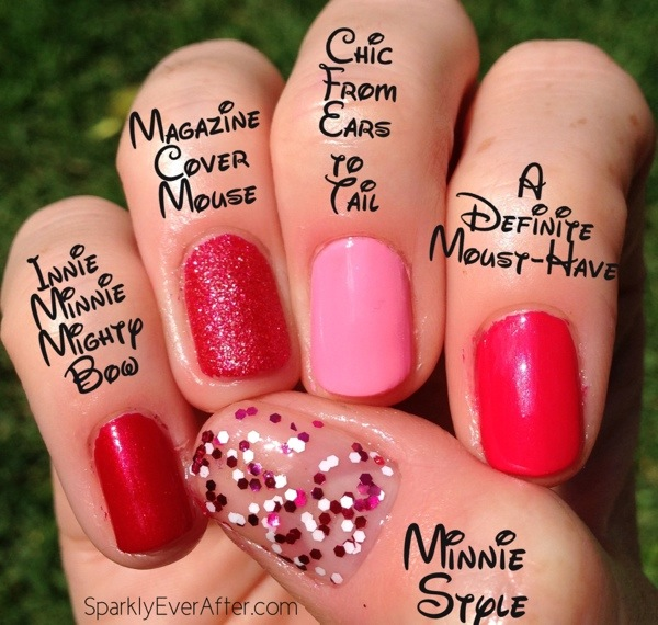 OPI Couture de Minnie Swatches 2013