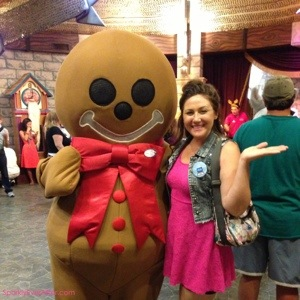Sparkly Nicole & Murphy, Give Kids The World's resident gingerbread man.