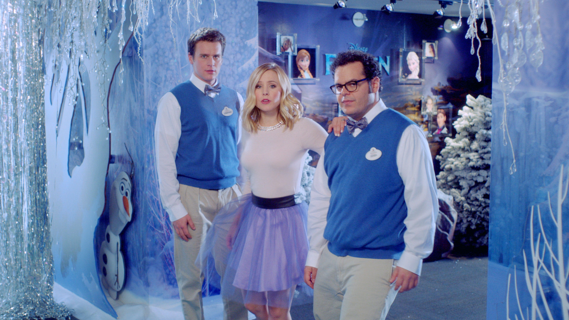 Behind the Scenes of Frozen with Josh Gad & Jonathon GroffKristen Bell And Jonathan Groff