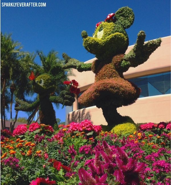 Minnie and Mickey topiary at Flower and Garden Festival 2014