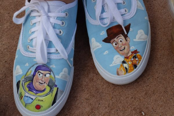 Toy Story Slippers : Hand painted toy story shoes sparklyeverafter