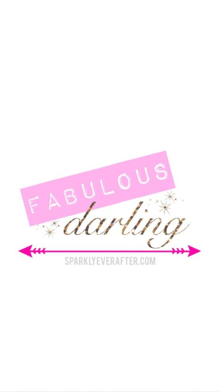 Fabulous Darling iPhone background | SparklyEverAfter.com