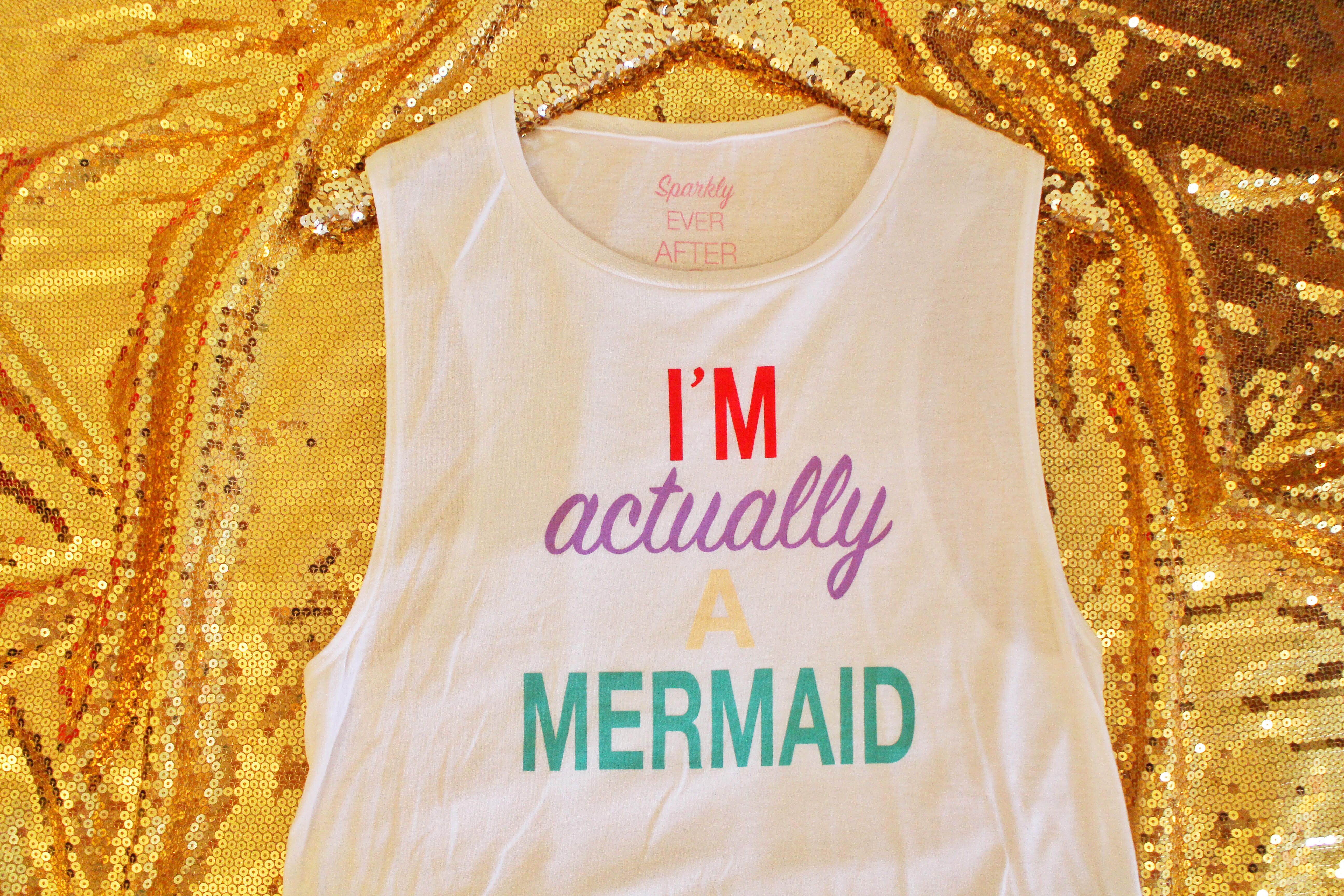 I'm Actually a Mermaid Shirt by Sparkly Ever After