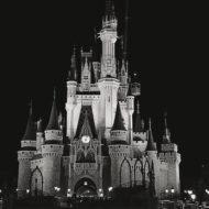 Magic Kingdom Main Street at Night Walt Disney World | SparklyEverAfter.com