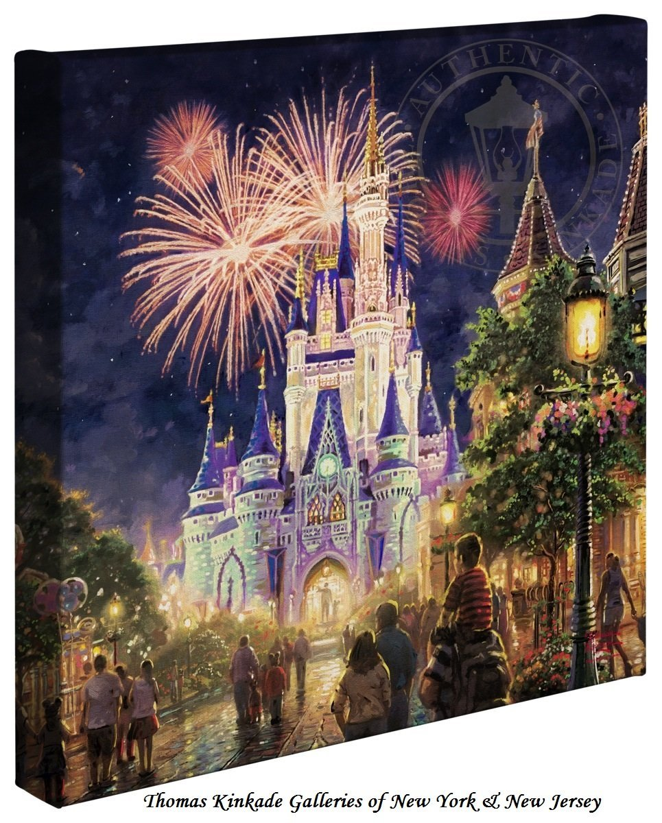 Thomas Kinkade Disney Castle Gift Ideas Disney Lovers