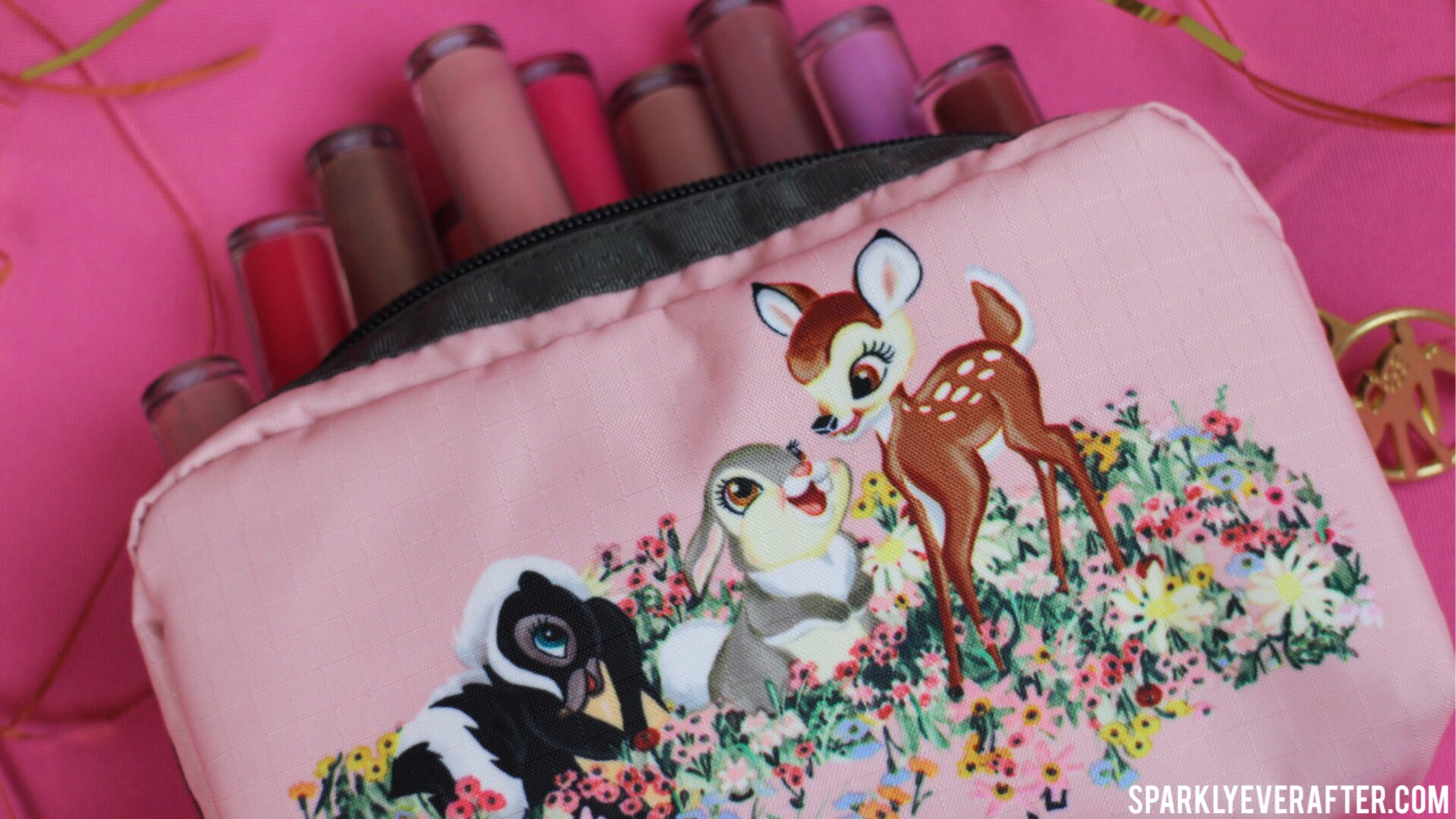 Disney LeSportsac Bambi Collection Rectangular Cosmetic SparklyEverAfter.com